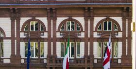 Facciata restaurata dell'Università di Sassari