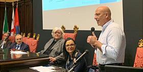Il Rettore Massimo Carpinelli alla presentazione dei risultati, progetto ARIA