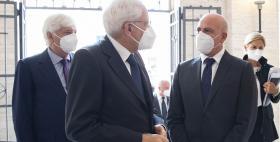 Sergio Mattarella e Massimo Carpinelli_Uniss_24 settembre 2020