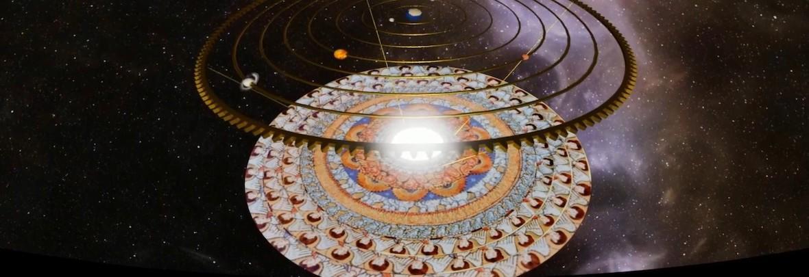 Universo e stelle con pianeti